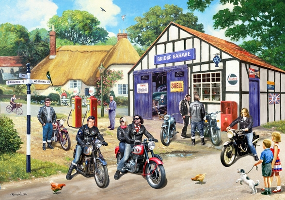 Rockers on the Road mural wallpaper