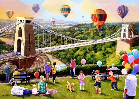 Balloons Over Bristol wall mural
