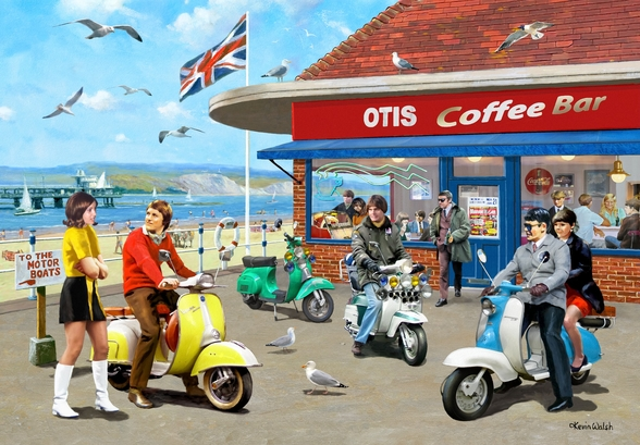 Mods Coffee Bar wall mural