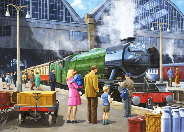 Flying Scotsman at Kings Cross mural wallpaper