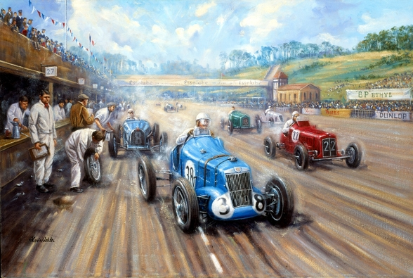 Back in the Race at Brooklands wallpaper mural