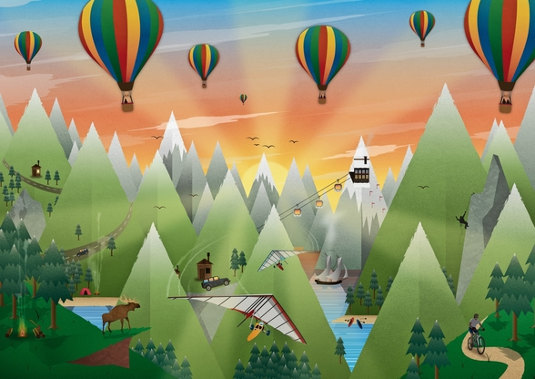 Adventure Land wall mural