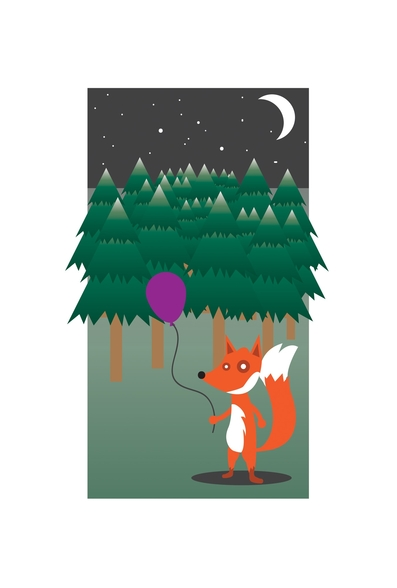 Fox in the Woods (2013) wall mural