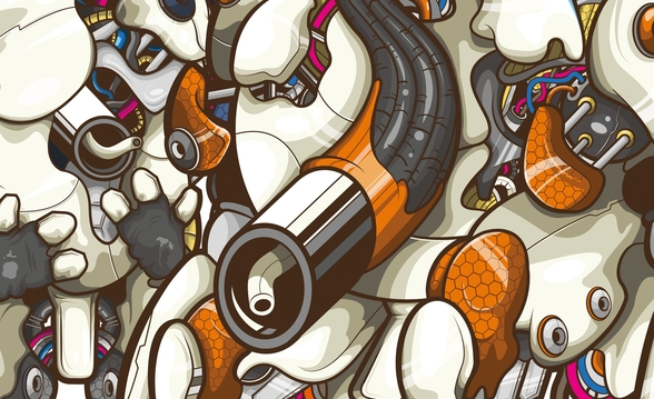 Robot Closeup (2013) wall mural
