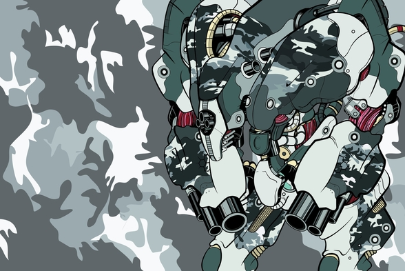 Urban Camo Protection Bot (2012) wall mural