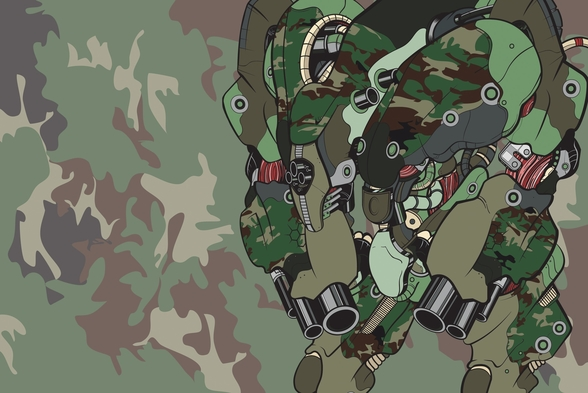 Woodland Camo Protection Bot (2012) wall mural