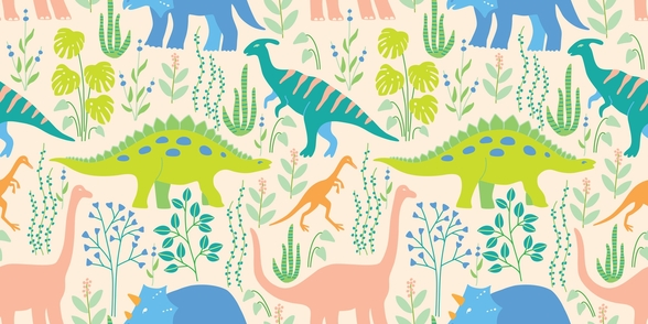 Dinosaurs wallpaper mural