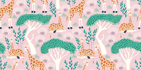 Giraffe wallpaper mural
