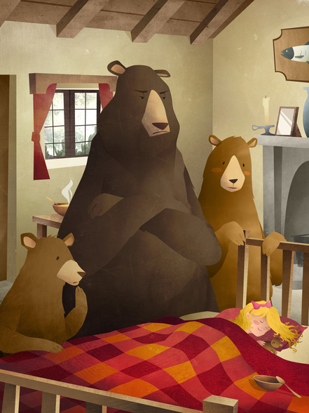 Goldilocks wall mural