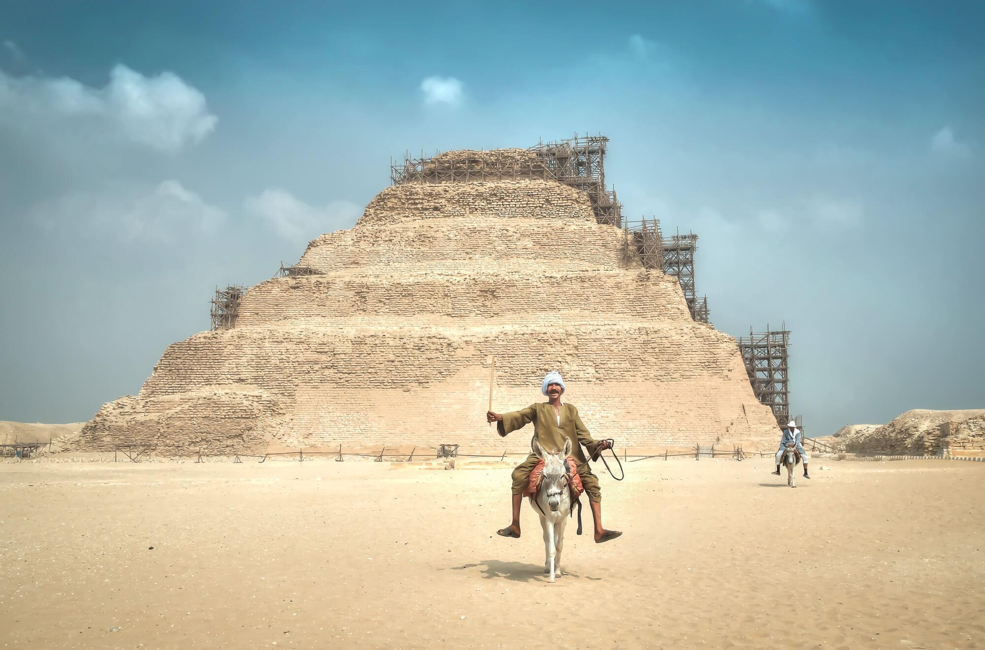 Egyptian Man on Donkey   Wallsauce UK