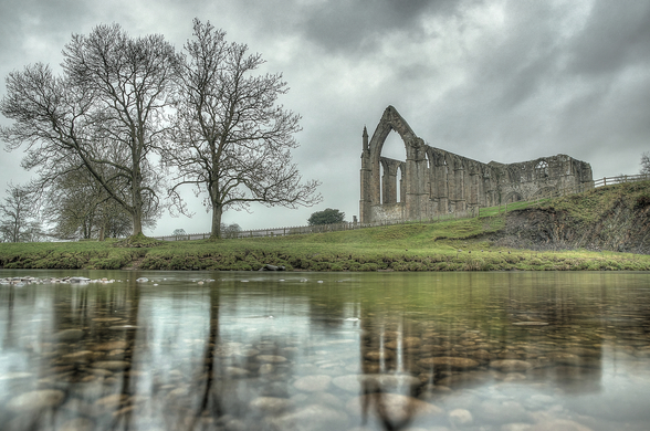 Bolton Abbey Reflections Good, Yorkshire mural wallpaper