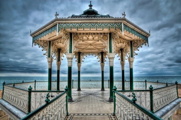Brighton Bandstand wall mural