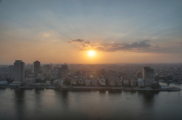 Cairo Sunset wall mural