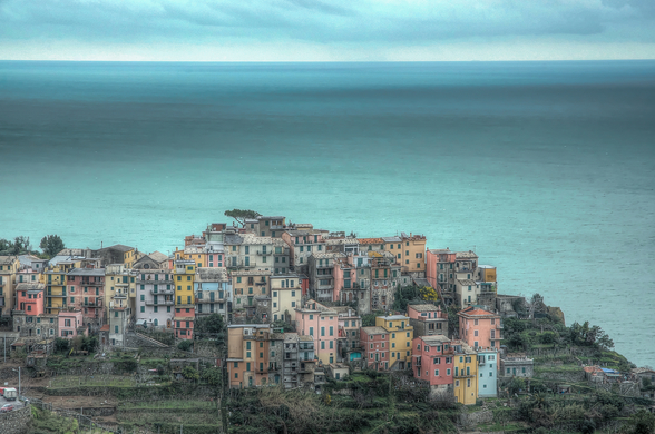 Corniglia on the Cliffs wall mural