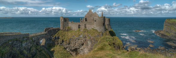 Dunluce Castle on the Coastal Causeway, County Antrim wallpaper mural