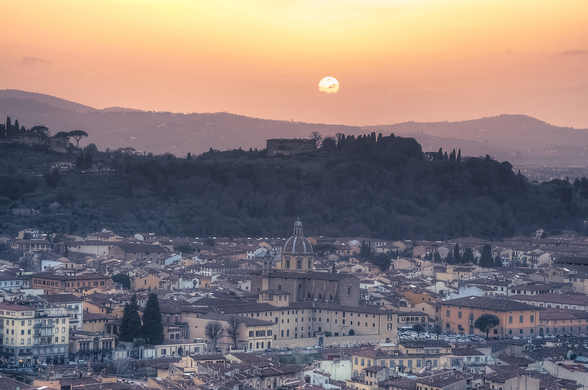 Florence Sunset wallpaper mural