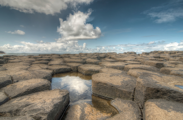 Giant's Causeway Water Reflection wall mural