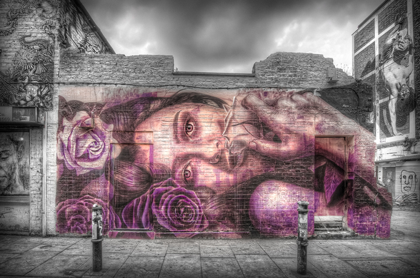 Graffiti Girl wall mural