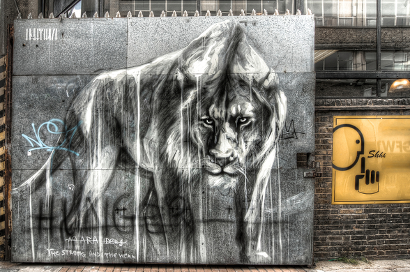 Guarded by the Lion wallpaper mural