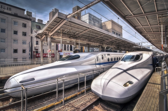 Japanese Bullet Trains wall mural