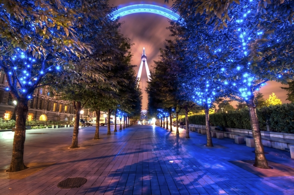 Lights of the London Eye wall mural