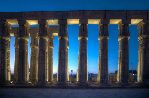 Luxor Temple Night wall mural