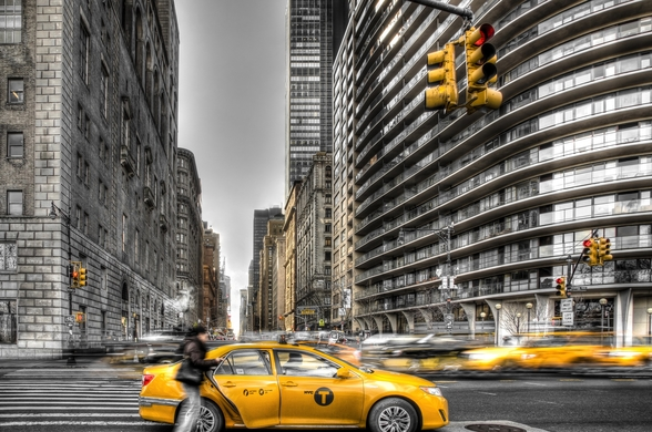 New York City cabs wall mural