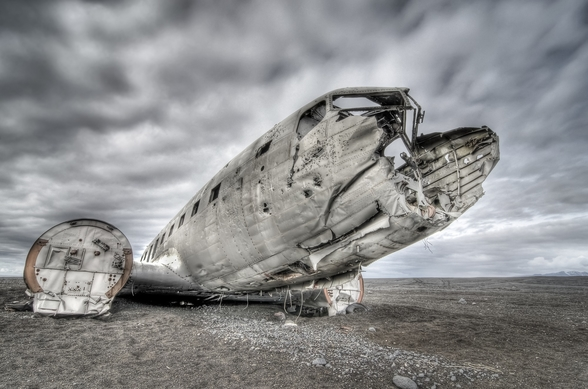 Old US Plane Wreck, Iceland wall mural