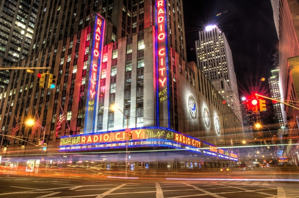 Radio City, New York wall mural