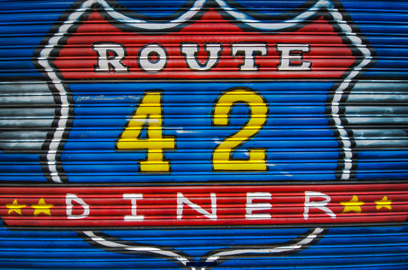 Route 42 wallpaper mural