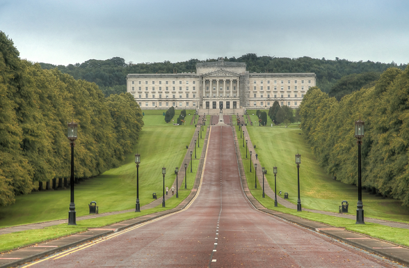 Stormont Parliament Building, Northern Ireland wall mural