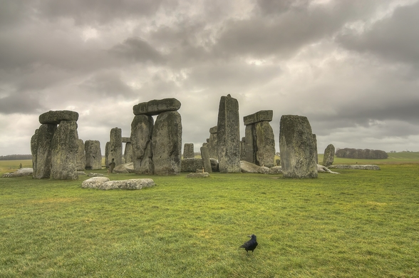Storms over Stonehenge mural wallpaper