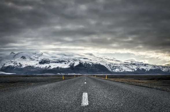 The Long Road to the Mountains, Iceland wall mural