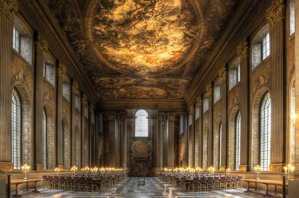 The Painted Hall, Greenwich wall mural