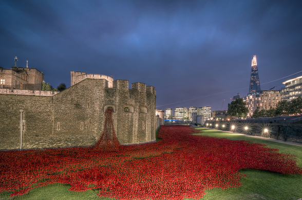 The Tower of London Poppies wallpaper mural