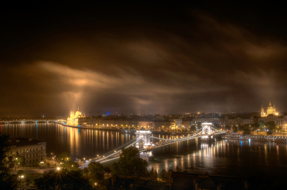 The View from Buda Castle wallpaper mural