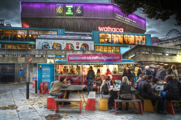 Wahaca pop up restaurant wall mural