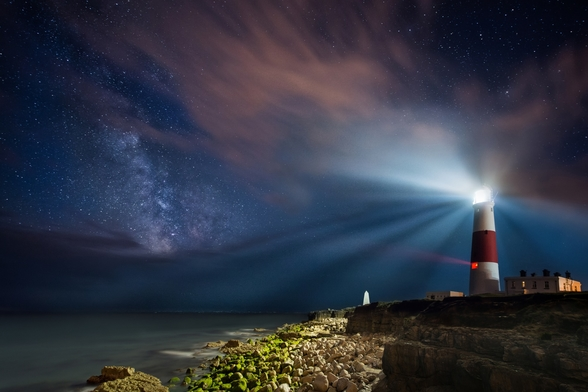 Portland Bill Night wall mural