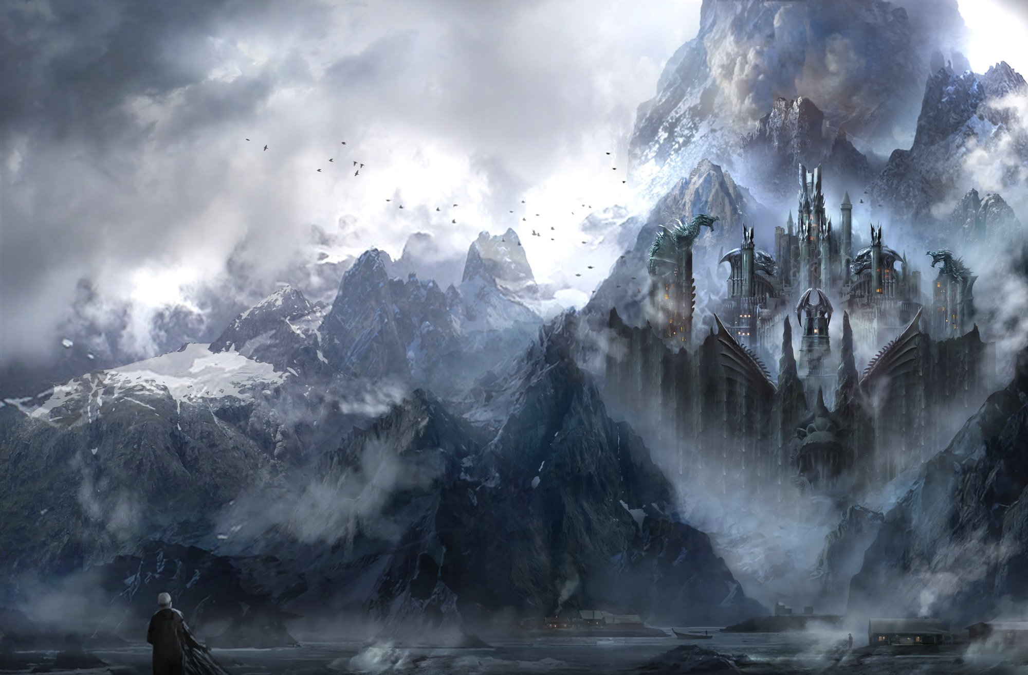 Download Wallpaper Mountain Dragon - dragonstone  Pic_211100.jpg