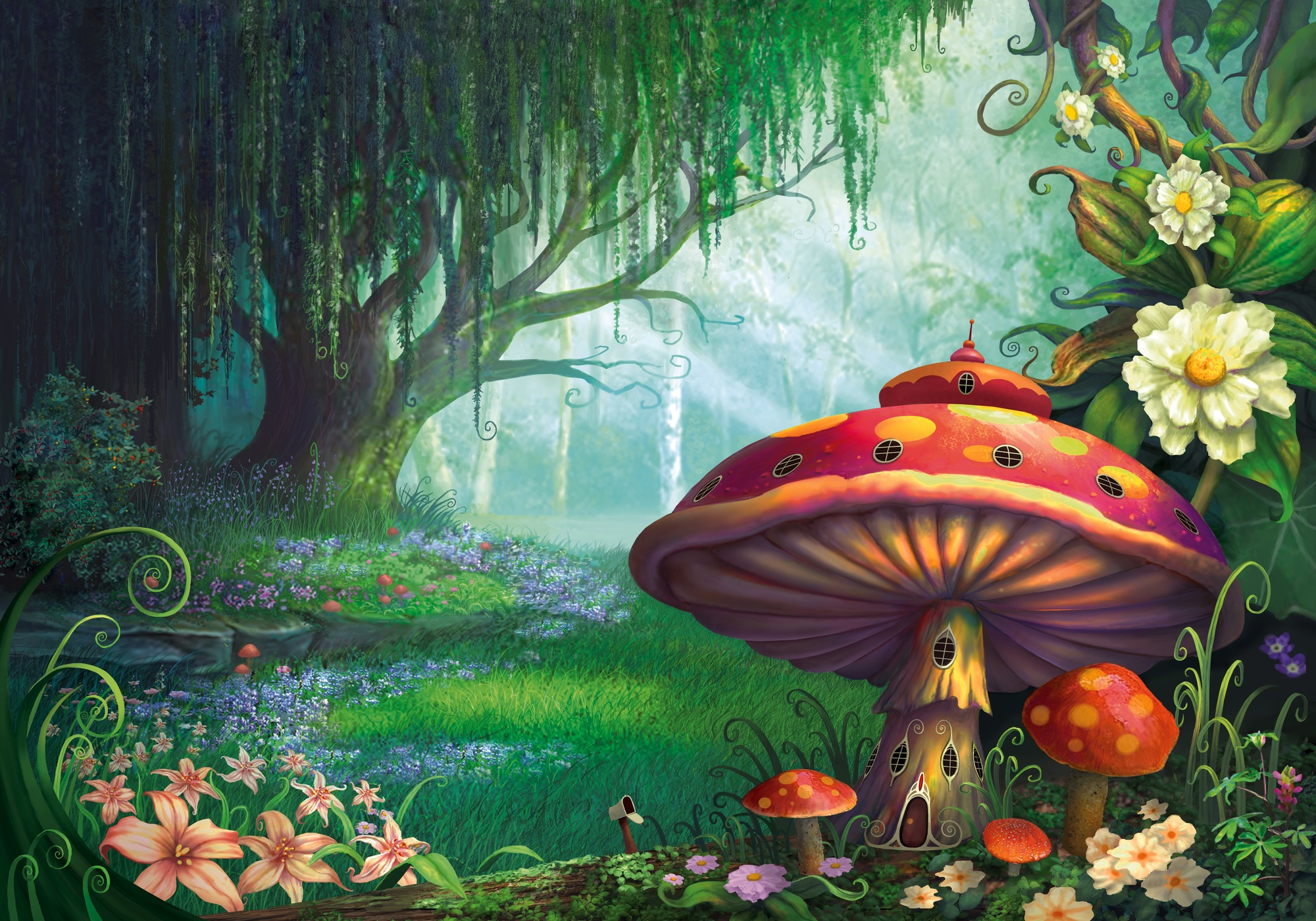 Enchanted Forest Wallpaper Mural By Philip Straub Wallsauce