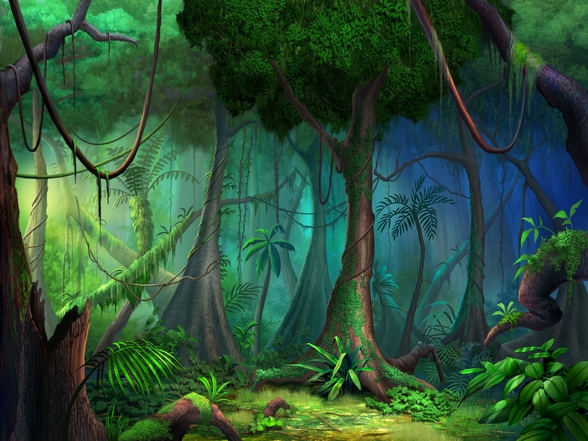 Rainforest mural wallpaper