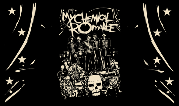 My Chemical Romance Undead wallpaper mural