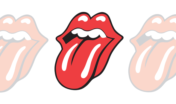 The Rolling Stones Classic Tongue mural wallpaper