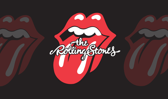 The Rolling Stones Tongue wall mural