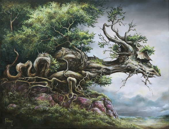 Dragon Tree wall mural