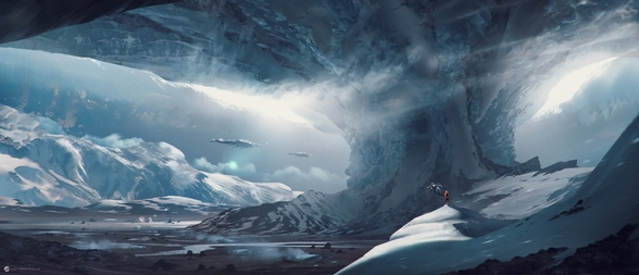 Big Game Ice Planet mural wallpaper