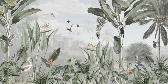 Botanical Beauty mural wallpaper