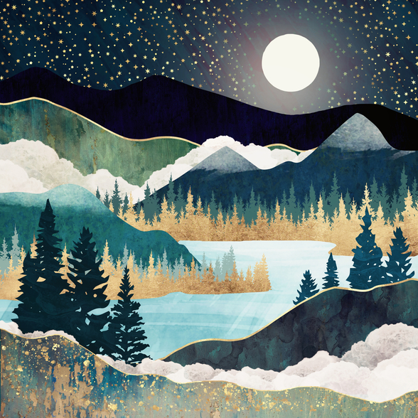 Star Lake wallpaper mural