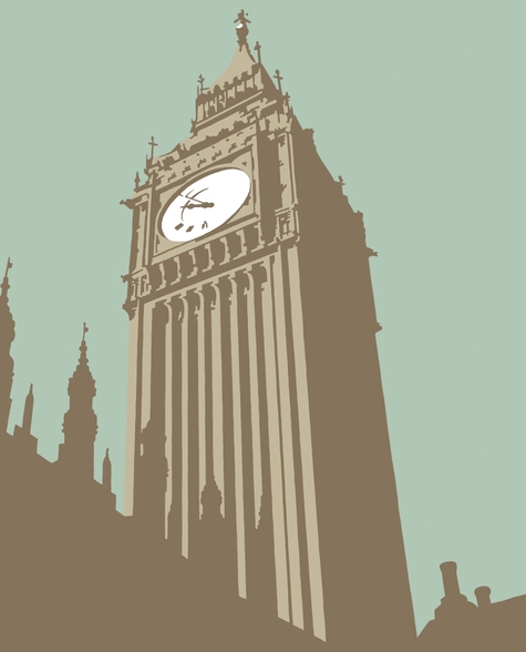 Big Ben mural wallpaper