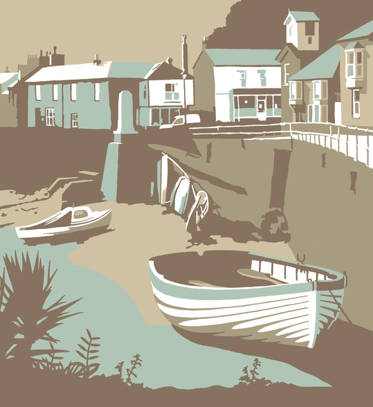 Mousehole wall mural